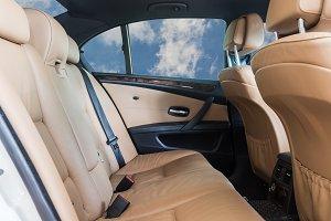 Car interior detail on the sky