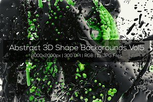 Abstract 3D Shape Backgrounds Vol5
