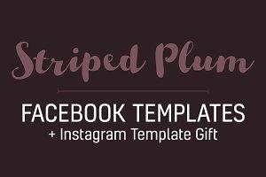 Striped Plum Facebook Template