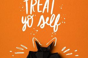 halloween origami bat