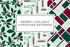 Merry Holiday Christmas Patterns