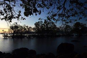 Sunset of padang beach