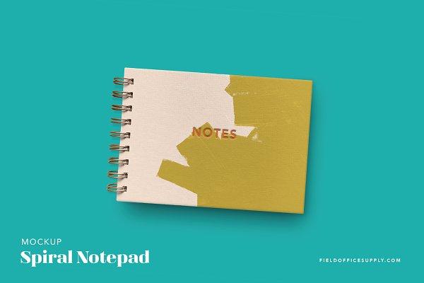 Spiral Notebook Set Mockup