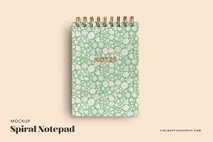 Spiral Notepad Mockup