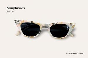 Cat Eye Sunglasses Mockup