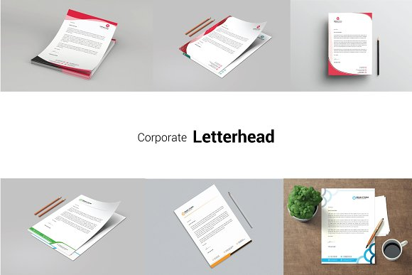 letter head bundle download stationery templates creative market