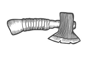 Hand Drawn Axe Sketch