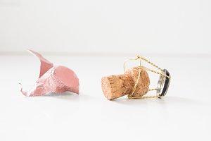Champagne Cork, Cage & Foil