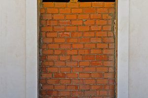 bricked up door