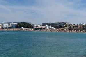panoramic view on la caleta beach ca