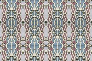 Iron Ornate Window Seamless Pattern