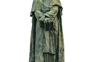 Giordano Bruno Sculpture Isolated Ph