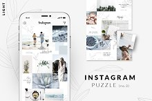 Instagram PUZZLE template - Light by  in Social Media
