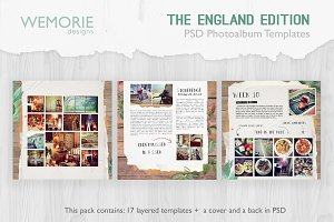 Square Photoalbum Template Scrapbook