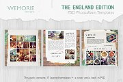 Square Photoalbum Template Scrapbook