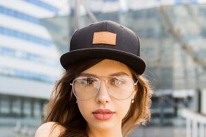 Fashion urban style hipster girl.
