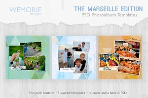 Square Travel Photoalbum Template