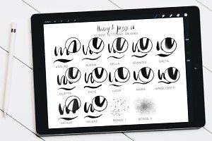 Classy Lettering Brushes Procreate
