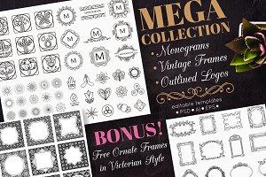 Mega Collection of Ornate Monograms