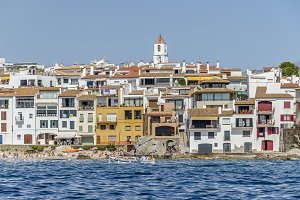 Calella de Palafrugell from the sea
