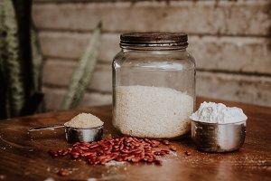 Rice, Beans, Flour, and Sugar