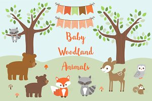 Baby Woodland Animal Clipart