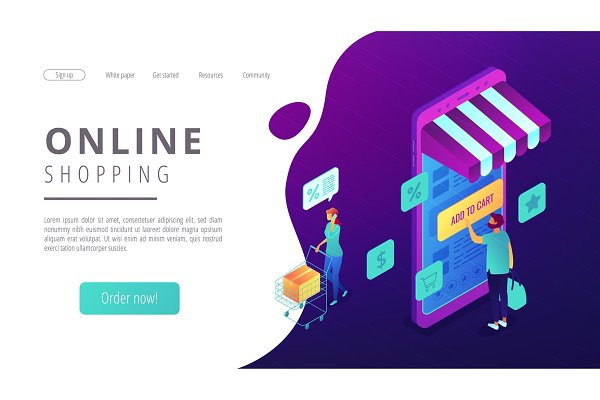 Isometric online shopping and buyin…
