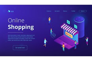 Isometric online shopping and voice