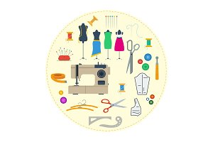 Round concept sewing equipment