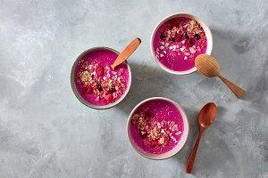 A healthy breakfast of beetroot