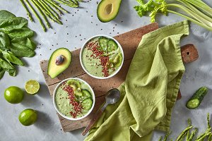 Green smoothies from avocado with