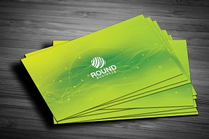 Green Colour Business Card