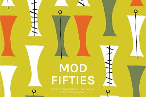 Mod Fifties | Artboards + Patterns