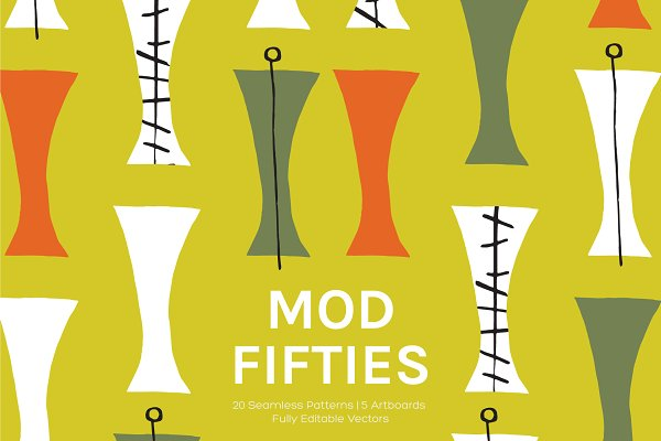 Graphics - Mod Fifties | Artboards + Patterns