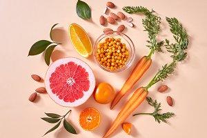 Natural organic citrus fruits