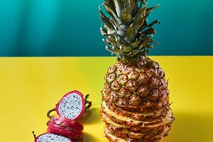 Tropical Pineapple fruit single