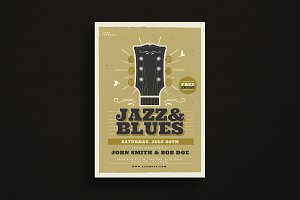Jazz & Blues Music Flyer