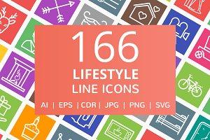 166 Lifestyle Line Icons