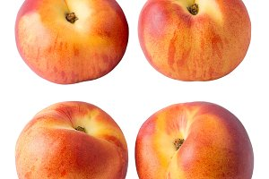 Collection of whole peach fruits