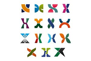 Symbols with letter X