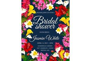 Wedding or bridal shower invitation