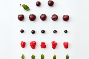 Fruit pattern of fresh berries and