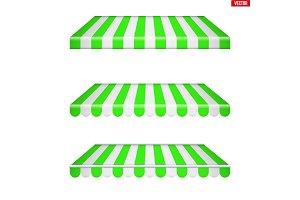 rectangular fabric awnings