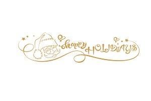 Happy Holidays - drawing