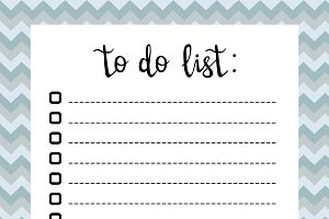 Hand writing To do list