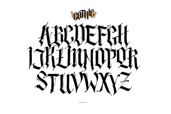 Gothic alphabet. Vector!