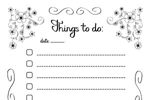 Hand writing Things to do list