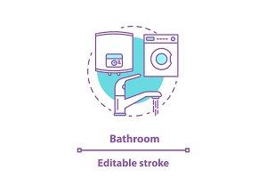 Bathroom appliances concept icon