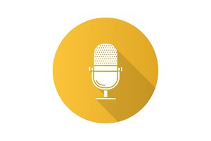 Microphone glyph icon