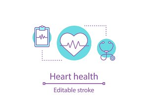 Heart health concept icon